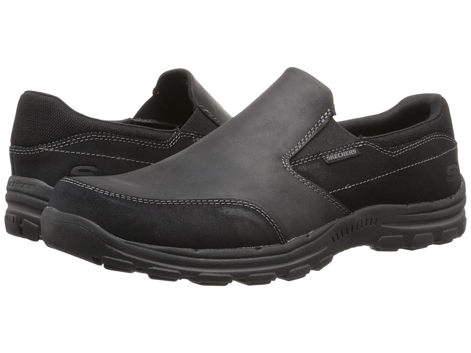SKECHERS Relaxed Fit Braver Linares (Black) Men