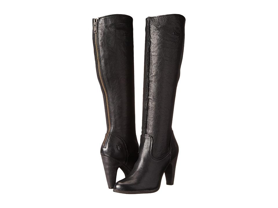 Frye Celeste Artisan Tall (Black Washed Vintage) Cowboy Boots
