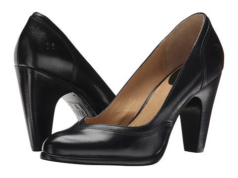 Frye - Celeste Pump (Black Smooth Polished Veg) High Heels
