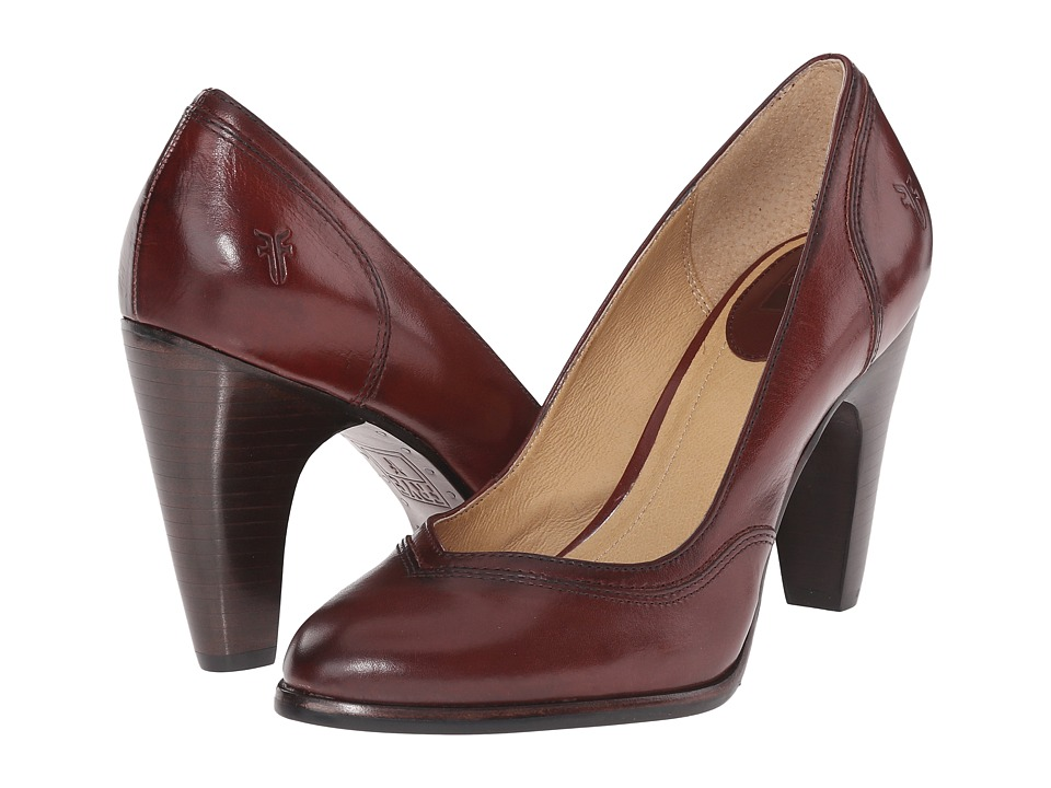 Frye - Celeste Pump (Dark Brown Smooth Polished Veg) High Heels