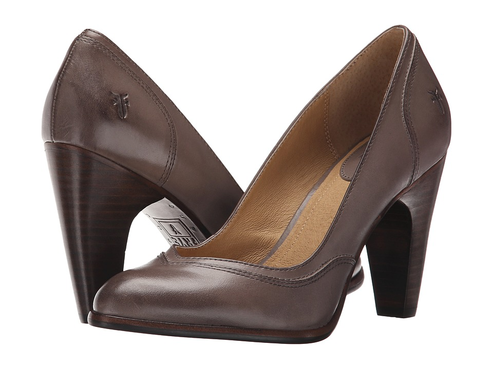 Frye Celeste Pump (Grey Smooth Polished Veg) High Heels