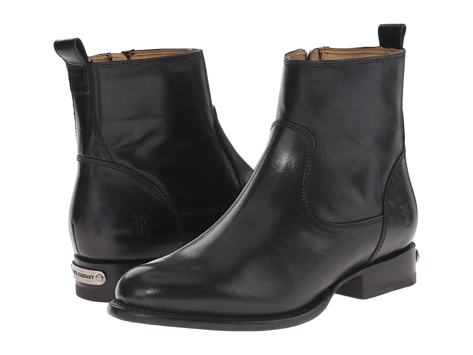 Frye Danielle Short (Black Smooth Polished Veg) Cowboy Boots