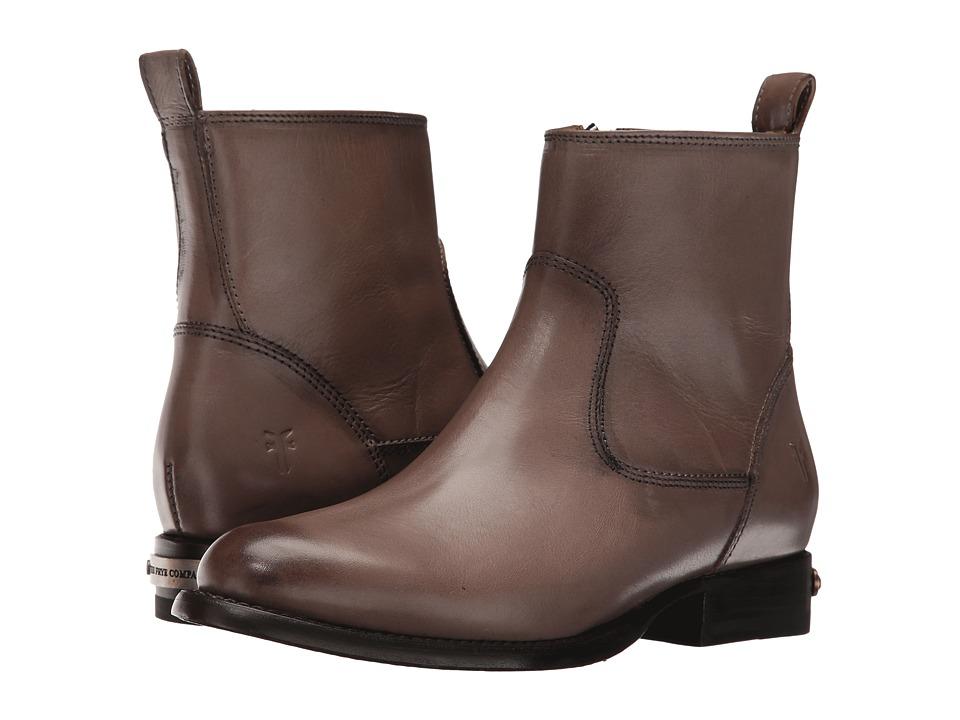 Frye - Danielle Short (Grey Smooth Polished Veg) Cowboy Boots
