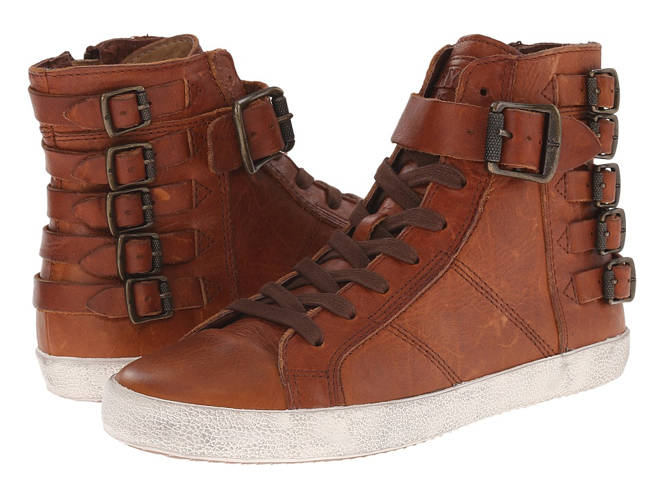 Frye - Dylan Belted High (Cognac Washed Oiled Vintage) Women's Lace up casual Shoes