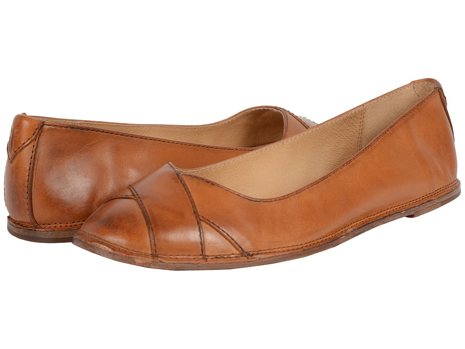 Frye - Ember Cross Ballet (Brown Smooth Vintage Leather) Women
