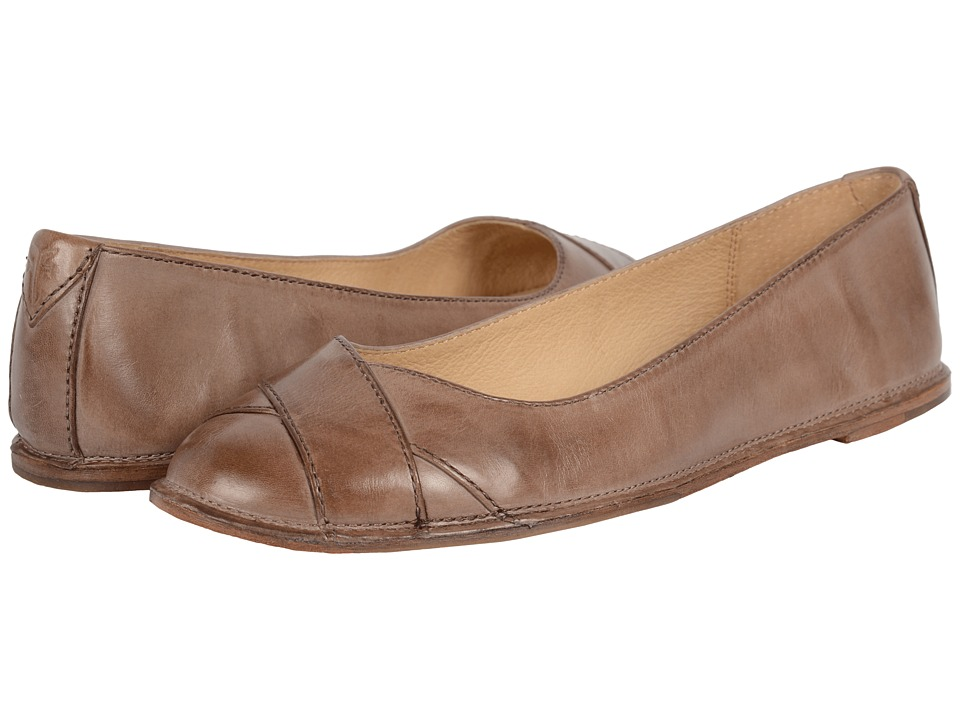 Frye - Ember Cross Ballet (Grey Smooth Vintage Leather) Women's Flat Shoes