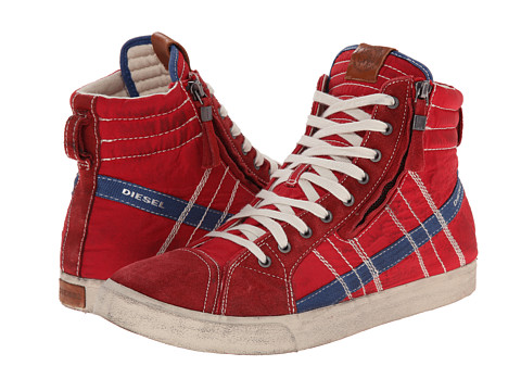 Diesel - D-Velows D-String (Tango Red/Dark Blue) Men's Lace-up Boots