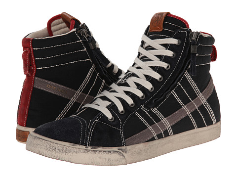 Diesel - D-Velows D-String (Black/Tango Red) Men's Lace-up Boots