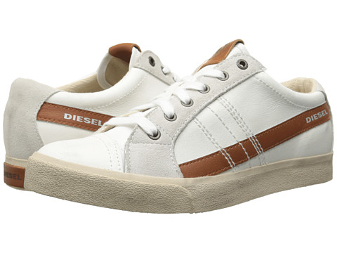 Diesel - D-Velows D-String Low (White/Leather Brown) Men