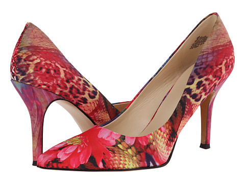 Nine West - Flax (Red Combo Fabric (Floral Print)) High Heels