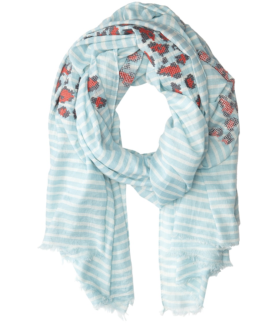 San Diego Hat Company - BSS1396 Cotton Floral Print Scarf w/ Fray Edges (Multi) Scarves