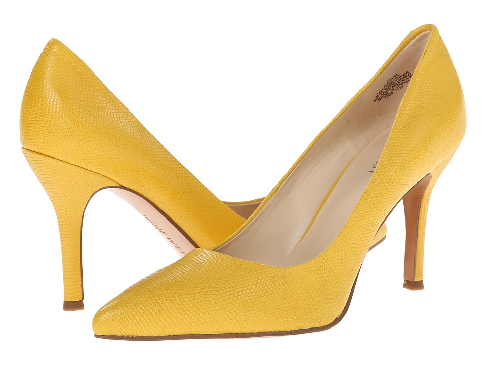 Nine West - Flax (Yellow Reptile) High Heels