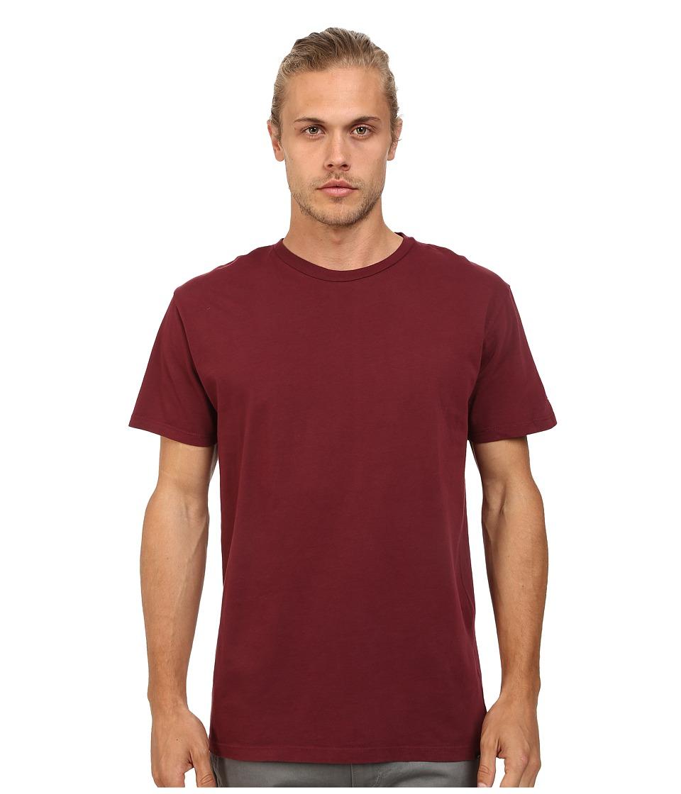 Obey - Premium Vintage Tee (Burgundy) Men's T Shirt