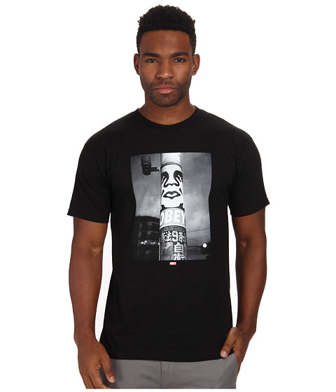 Obey - Poster Pole Photo Tee (Black) Men's T Shirt