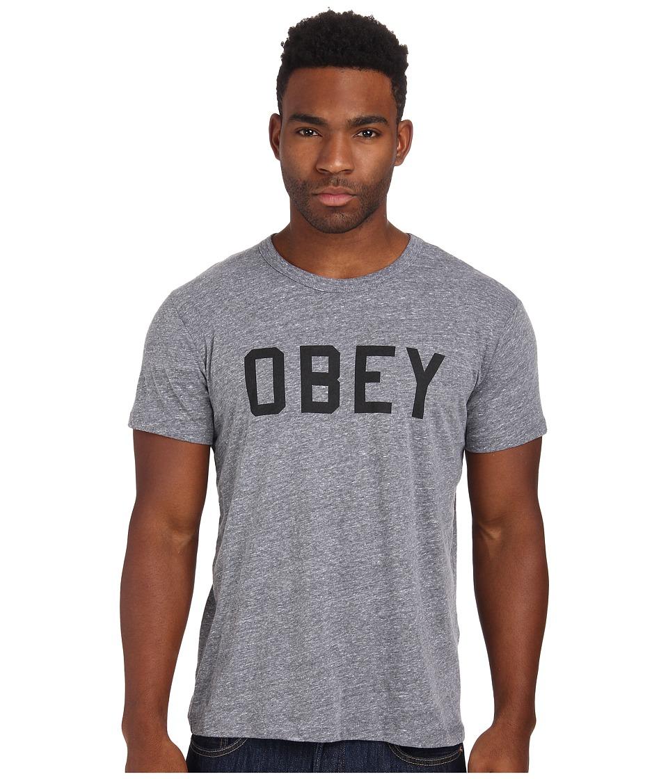 Obey - Collegiate Heather Triblend Tee (Heather Grey) Men