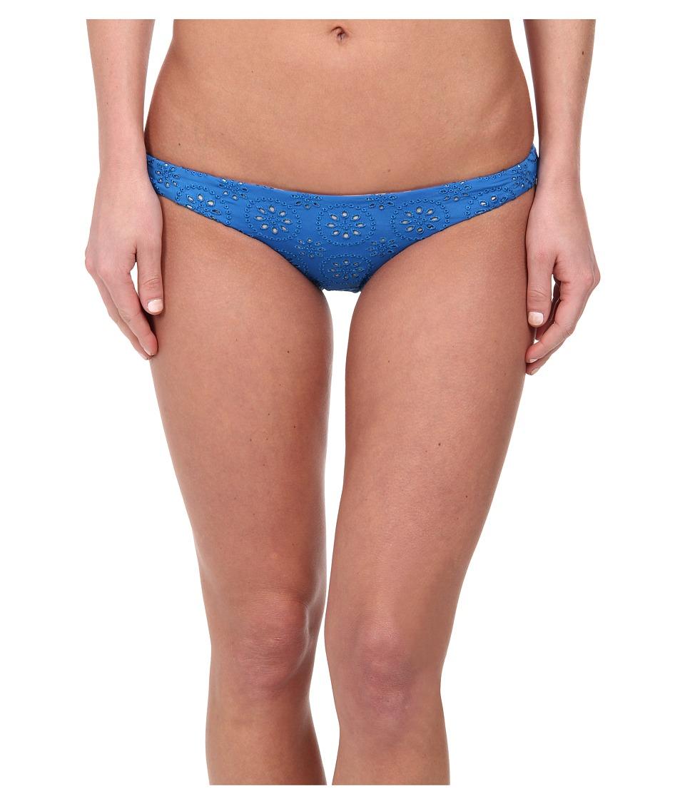 Image of Amuse Society - Ava Eyelet Everyday (Medina Blue) Women's Swimwear