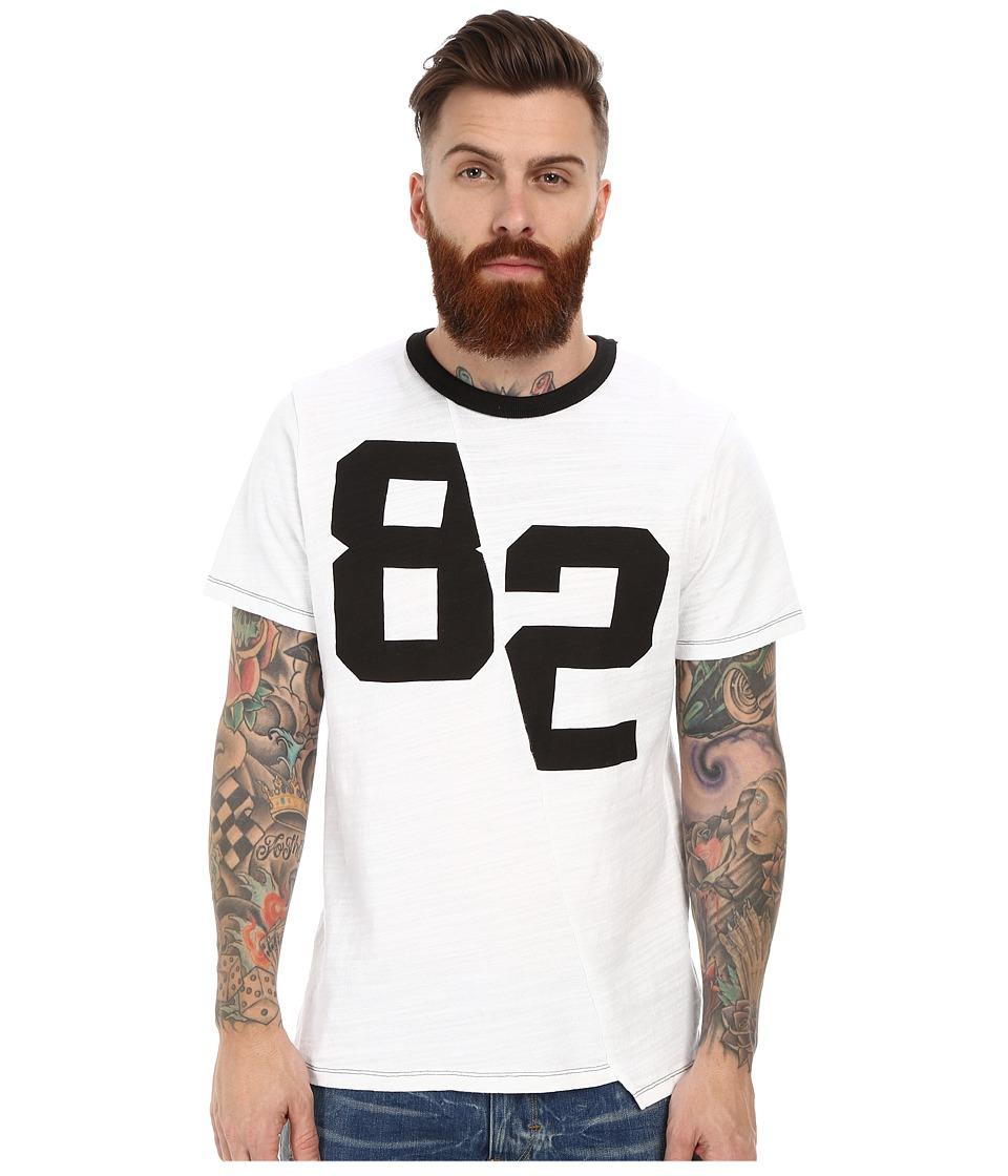 Joe's Jeans - Novak Players Distorted Tee (White) Men's T Shirt