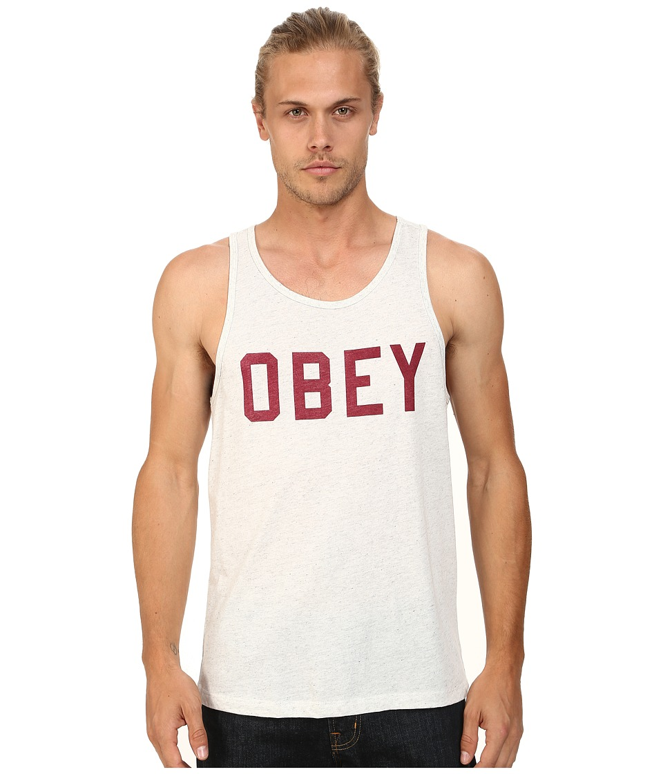 Obey - Collegiate Triblend Tank Top (Heather Ash) Men's Sleeveless