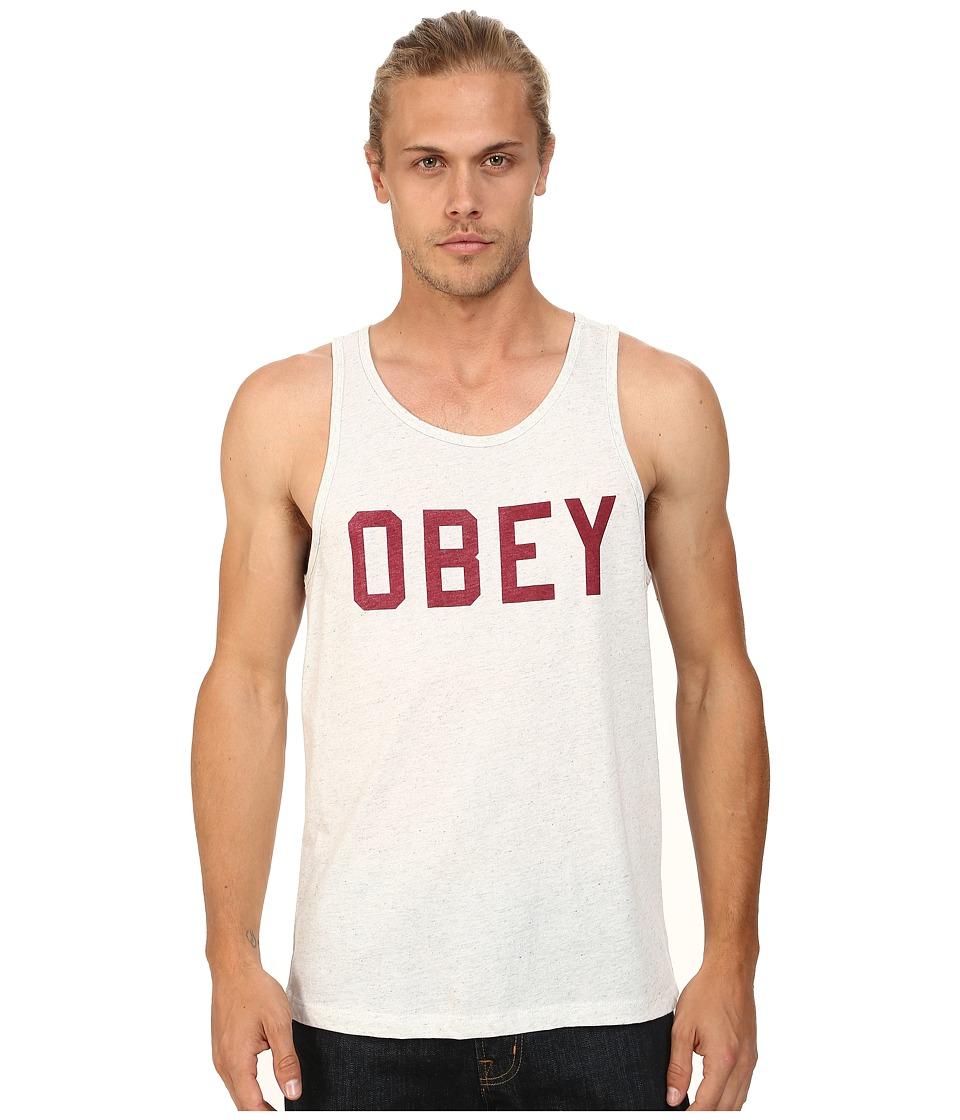 Obey - Collegiate Triblend Tank Top (Heather Ash) Men's Sleeveless