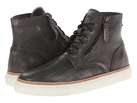 Diesel - Gun-Tel D-Blaast Mid (Black) Men's Lace-up Boots