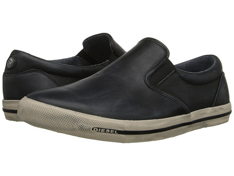 Diesel - Metro-Poliss Sub-Ways (Black) Men's Slip on Shoes