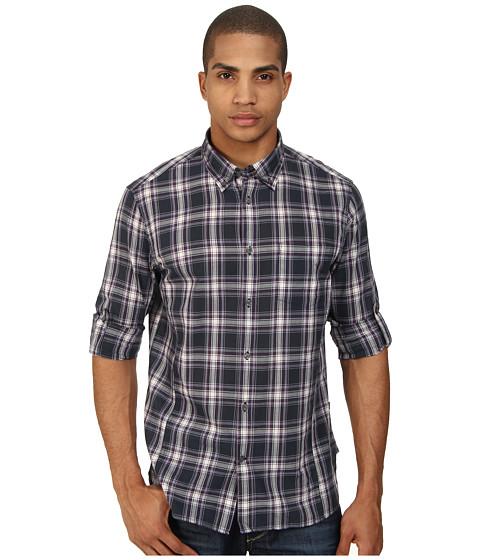 John Varvatos Star U.S.A. - Roll Up Sleeve Shirt w/ Button Down Collar (Regal Purple) Men's Long Sleeve Button Up