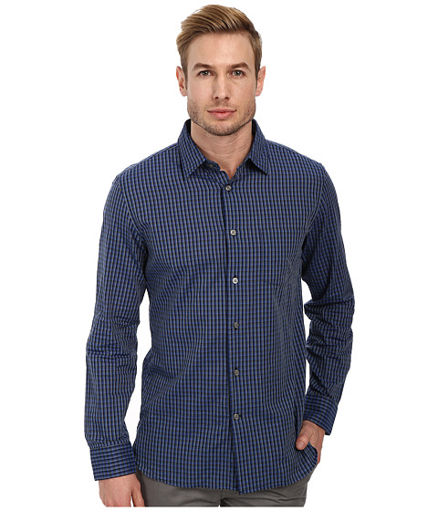 John Varvatos Star U.S.A. - Slim Fit Shirt w/ Point Collar W373Q4B (Cobalt) Men's Clothing