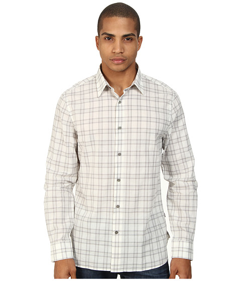 John Varvatos Star U.S.A. - Basic Point Collar Shirt W184Q4B (Grey Heather) Men's Long Sleeve Button Up