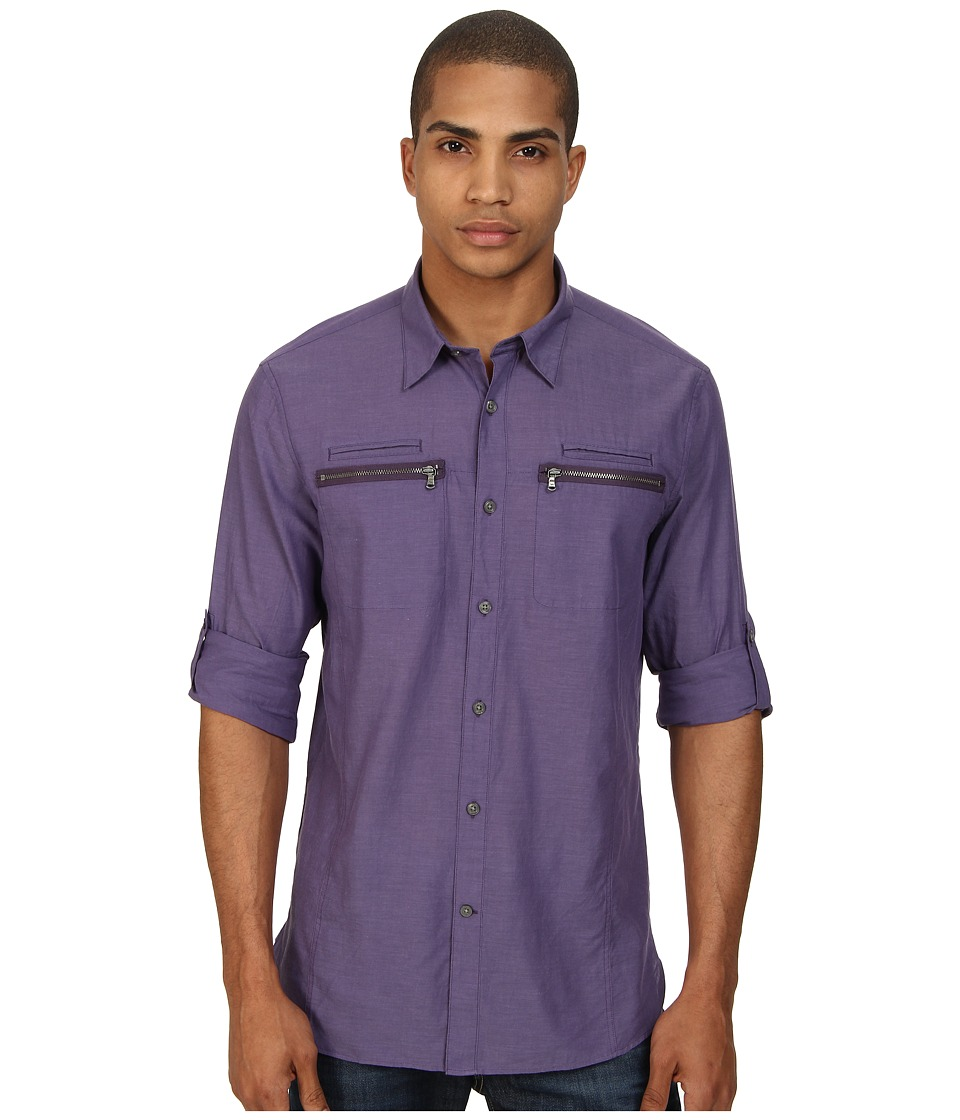 John Varvatos Star U.S.A. - Double Zipper Pocket Shirt W192Q4B (Wisteria) Men's Long Sleeve Button Up