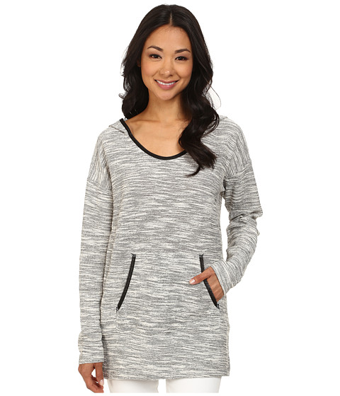 DKNY Jeans - Textured Hoodie Tunic (Polar Cream) Women's Dress