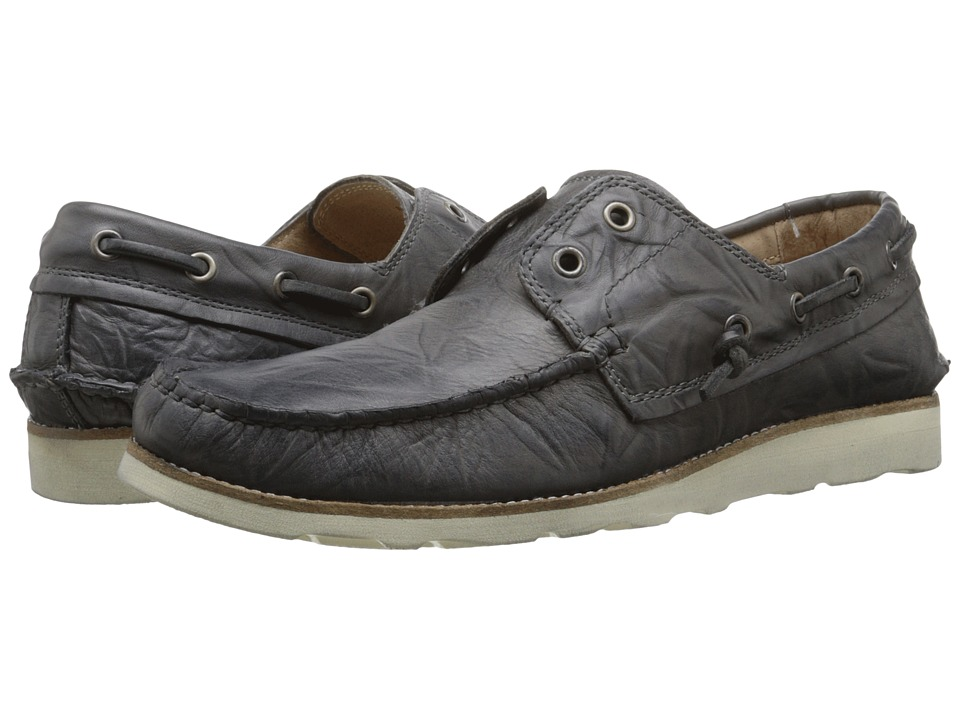 John Varvatos - Lugger Boat Shoe (Lead) Men's Shoes
