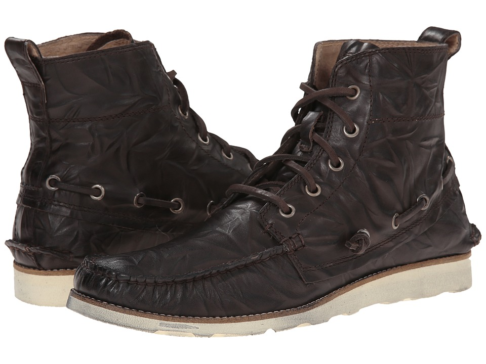 John Varvatos Lugger Boat Boot (Dark Brown) Men
