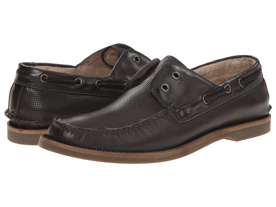 John Varvatos - Drifter Boat Shoe (Lead) Men