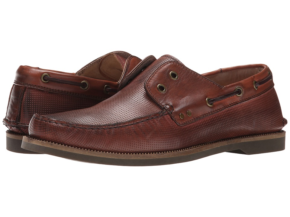 John Varvatos - Drifter Boat Shoe (Mocha) Men's Slip on Shoes