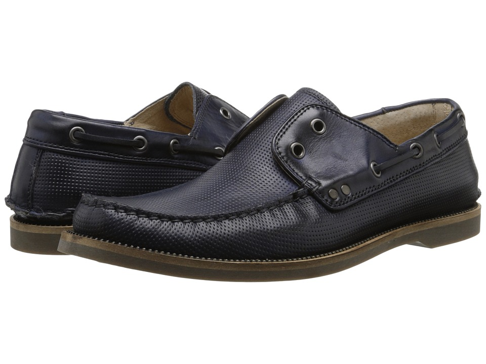 John Varvatos Drifter Boat Shoe (Oiled Blue) Men