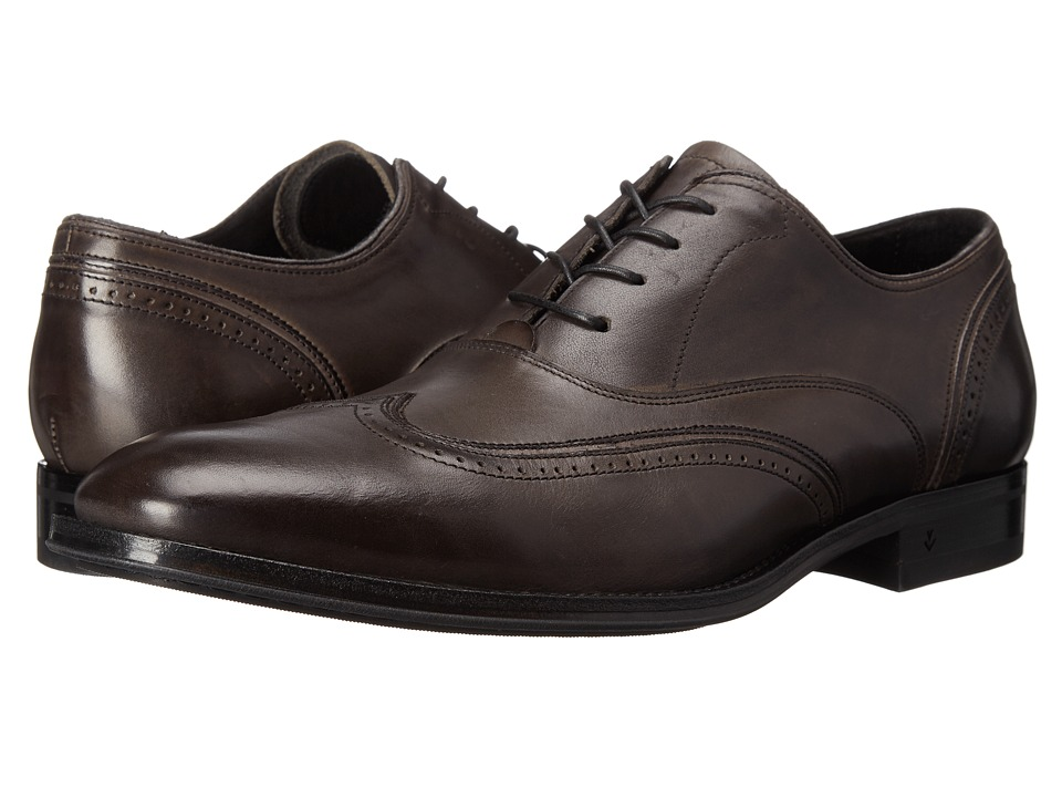 John Varvatos - Travelor Wingtip (Lead) Men's Shoes