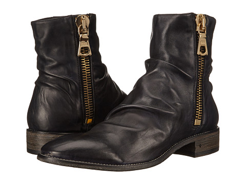 John Varvatos - Richards Wide Zip Boot (Black) Men's Boots