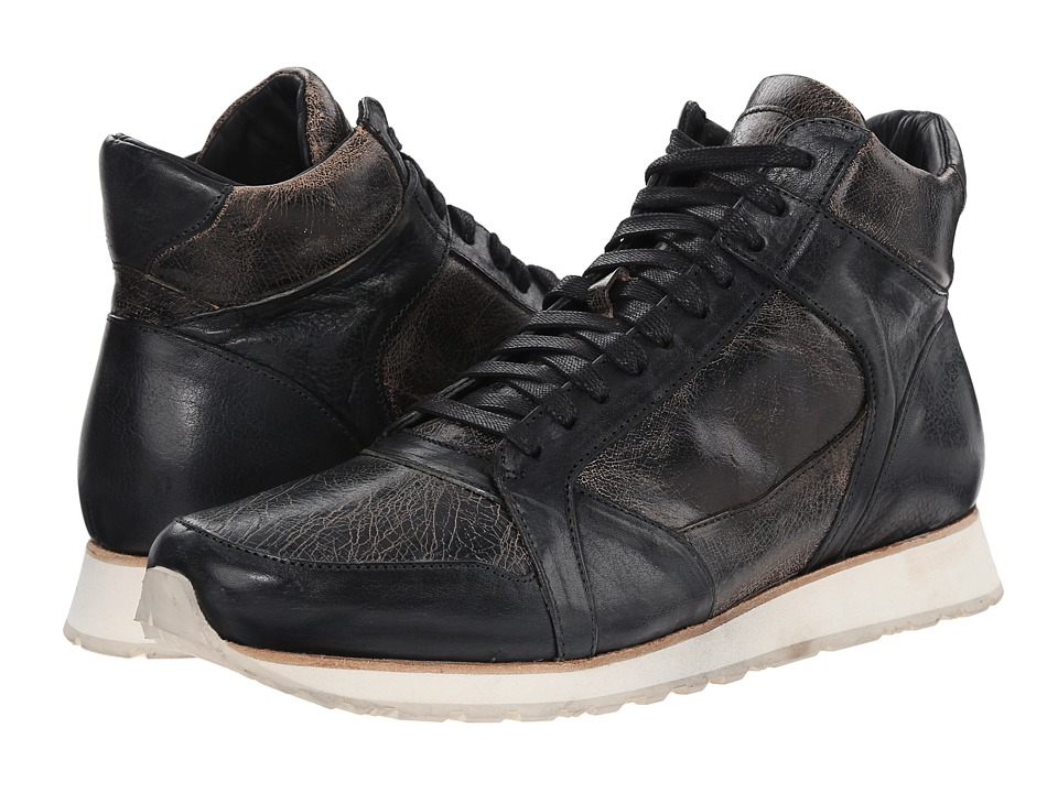 John Varvatos 315 Traainer Mid (Black Sand) Men