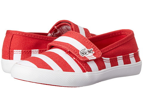 Lacoste Kids - Marice STR SP15 (Toddler/Little Kid) (Red/White) Kid's Shoes