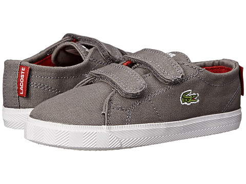 Lacoste Kids - Marcel WD SP15 (Toddler/Little Kid) (Dark Grey/Red) Kid's Shoes
