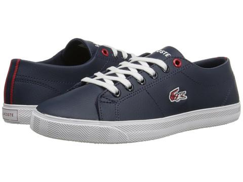 Lacoste Kids - Marcel HTB SP15 (Little Kid/Big Kid) (Dark Blue/Red) Kid's Shoes