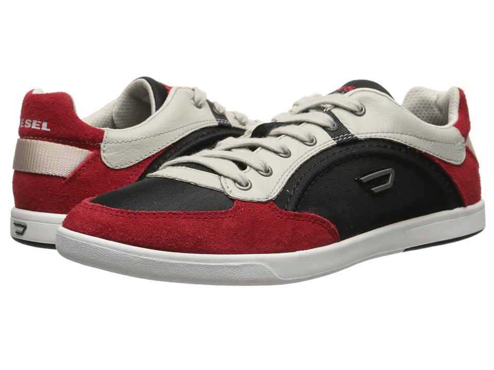 Diesel - Eastcop Starch (Black/Tango Red) Men's Lace up casual Shoes