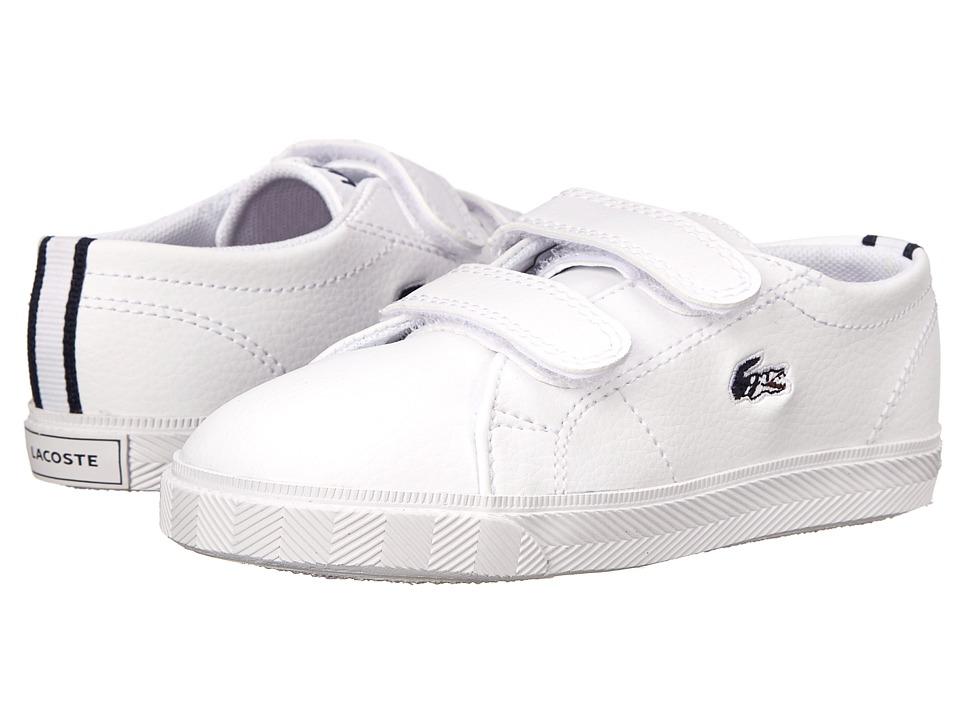 Lacoste Kids - Marcel HTB SP15 (Toddler/Little Kid) (White/Dark Blue) Kid's Shoes