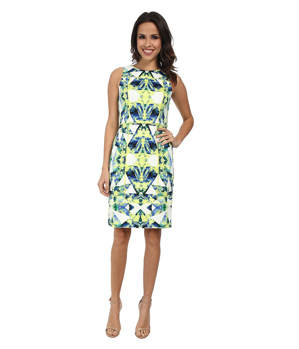 Vince Camuto - Tank Midi Sheath with Overlock Detail (Multi) Women's Dress