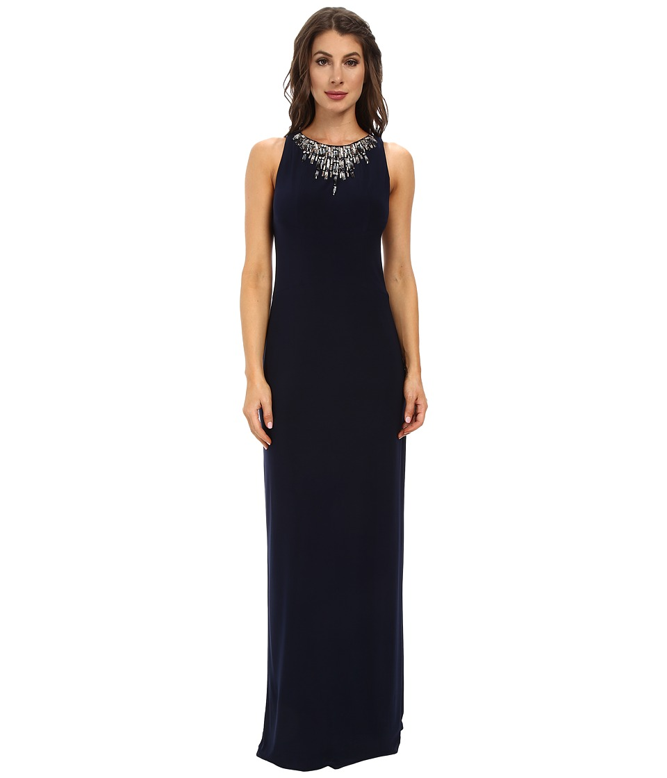 Vince Camuto - Ity Gown with Beaded Neck (Navy) Women