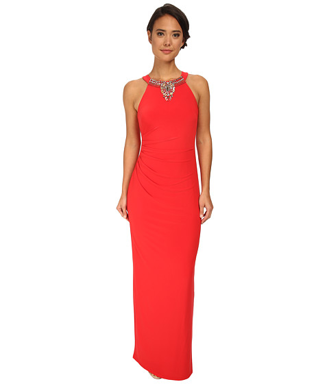 Vince Camuto - Ity Gown with Beaded Neck (Orange) Women's Dress