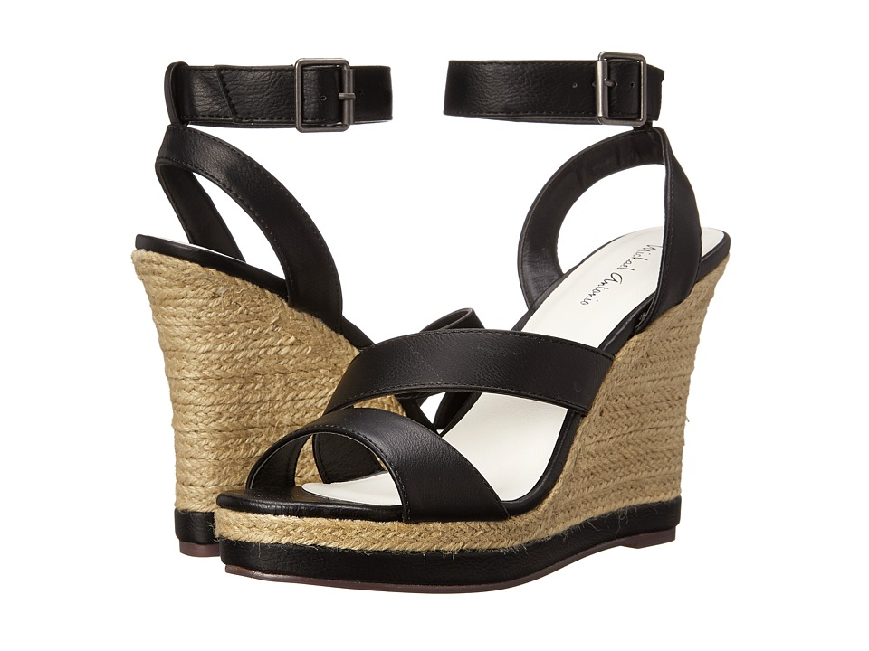 Michael Antonio - Gate-Pu (Black) Women's Wedge Shoes