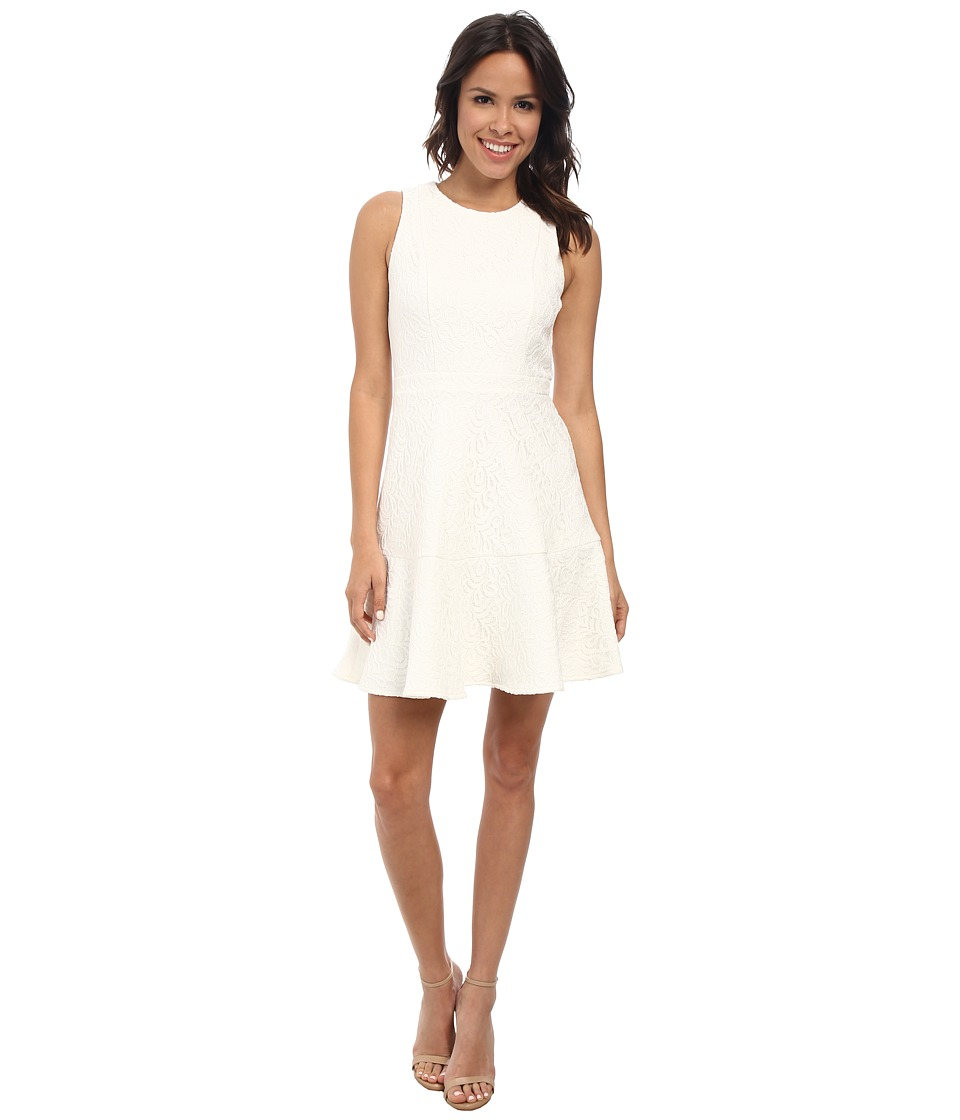 Vince Camuto - Sleeveless Fit and Flare with Princess Seams (White) Women's Dress