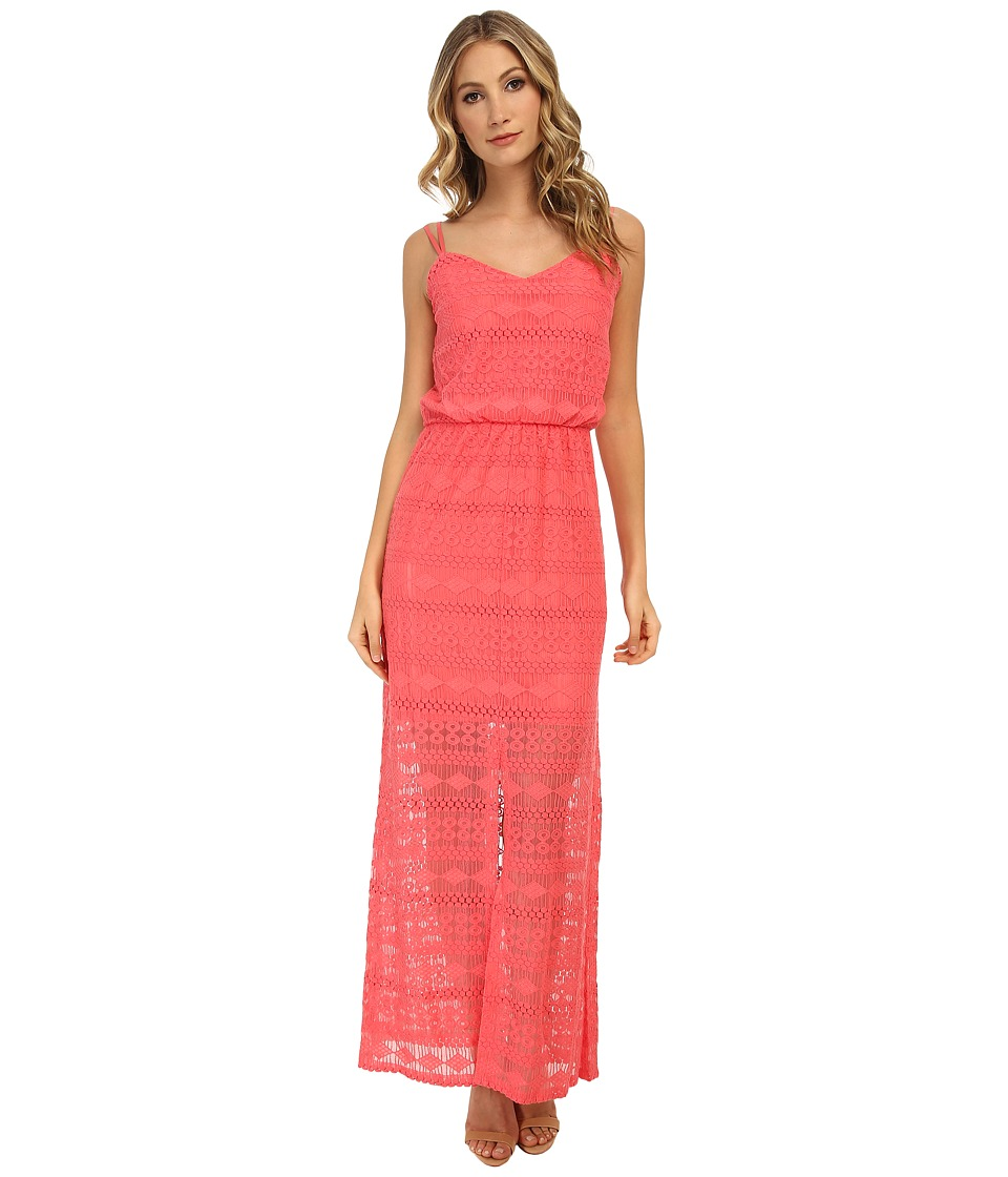 Vince Camuto - Blouson Maxi with Tank Top and Illusion Hem (Coral) Women