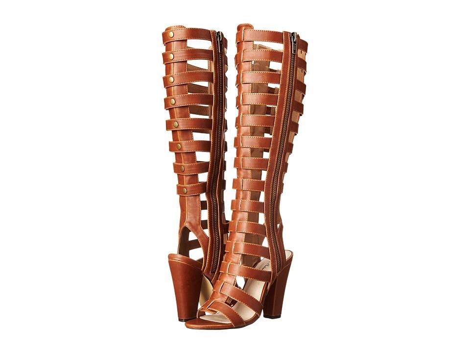 Michael Antonio - Kimiko (Cognac) Women's Zip Boots